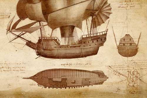 da Vinci flying airship